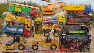 Learn Car Names For Kids | Toys Review And Learning Name and Sounds Dump Truck Excavator Toys