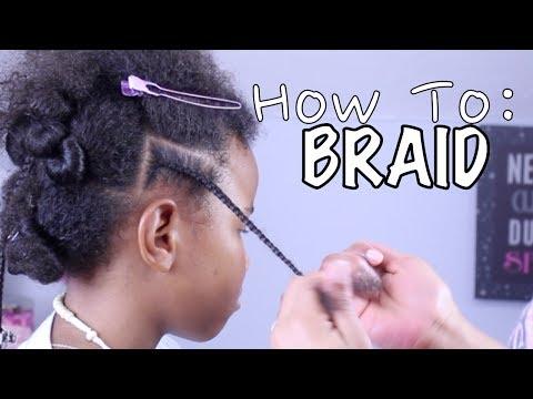 How To Braid / Cornrow Hair for Beginners