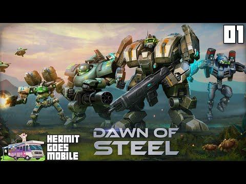 """MOBILE MECH BATTLES!!!"" Dawn of Steel iOS 1080p HD walkthrough"