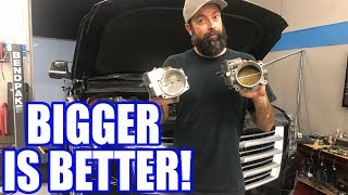 Supercharged Escalade 103MM Throttle Body Swap! Is It Worth It??
