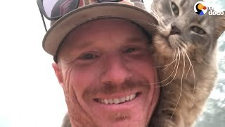Cat Is So Grateful Firefighter Saved His Life | The Dodo
