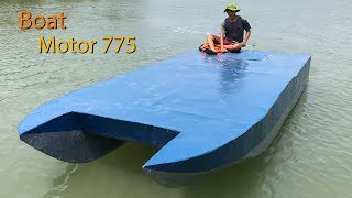 Magnetic foam boat Motor 775 | Make your own motor boat 775