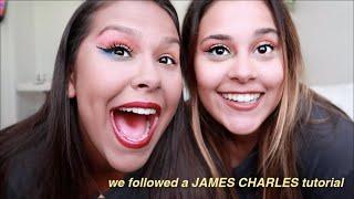 we tried following a JAMES CHARLES makeup tutorial (fail)
