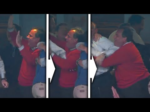 Chris Christie Bumps Bellies With Billionaires At Cowboys Game