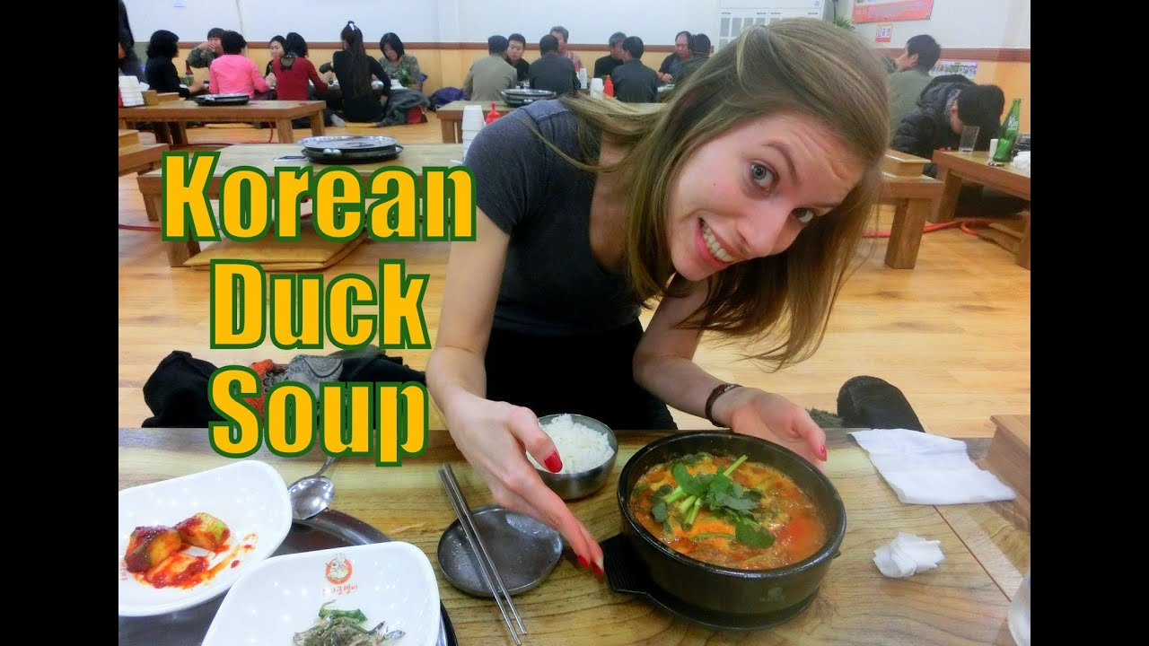Korean Dog Soup Eating Korean Duck Soup / Stew