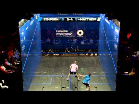 Squash : MegaRallies EP76 - Matthew v Simpson: US Open 201