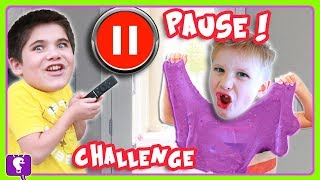 SLIME PAUSE CHALLENGE! DIY How To Make SLIME Edition by HobbyKidsTV