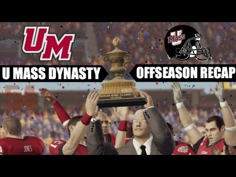 NCAA 13: U Mass Minutemen Dynasty - EP54 (Offseason Recap & Year 5 Preseason)