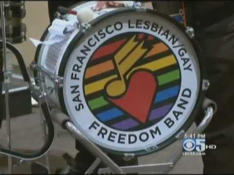 SF Lesbian/Gay Freedom Band performs at Contemporary Jewish Museum