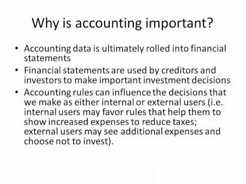 Why is Accounting Important?