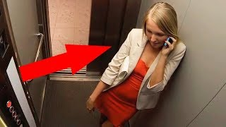 10 WEIRD ELEVATOR MOMENTS CAUGHT ON CAMERA