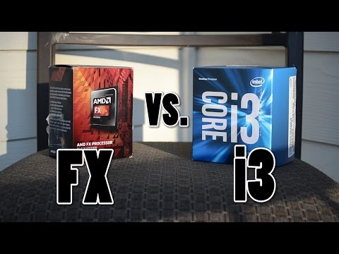 Intel i3 6100 vs. AMD FX 6300
