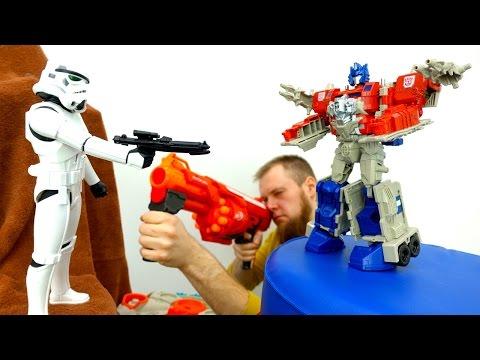 Мультики для мальчиков. #Трансформеры и Стар Варс: Автоботы против Дарт Вейдера!