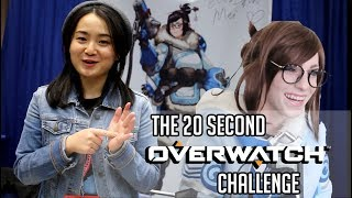 20 Second Overwatch Challenge Featuring the Voice Actors! - SacAnime 2018