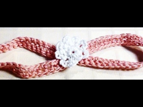 Crochet Baby Headband - Crochet Baby Headband with Flower