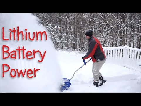 Five Great Lithium ion Battery Powered Snow Blowers and Shovels