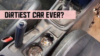 Cleaning a really dirty volvo car