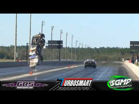 Steve Jackson The Shadow Big Wheelstand and Goes Airborne Crash No Mercy 7 @ SGMP