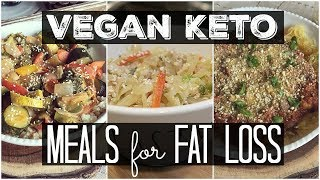 3 VEGAN KETO LUNCH/DINNER MEALS FOR FAT LOSS ( LOW CARB, HIGH FAT)