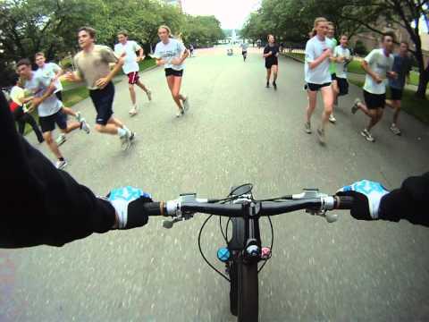 University of Washington Urban Mountain Biking through Campus