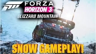 Forza Horizon 3 | Blizzard Mountain | JUMPING OFF A MOUNTAIN! | Snow Gameplay, NEW CARS!