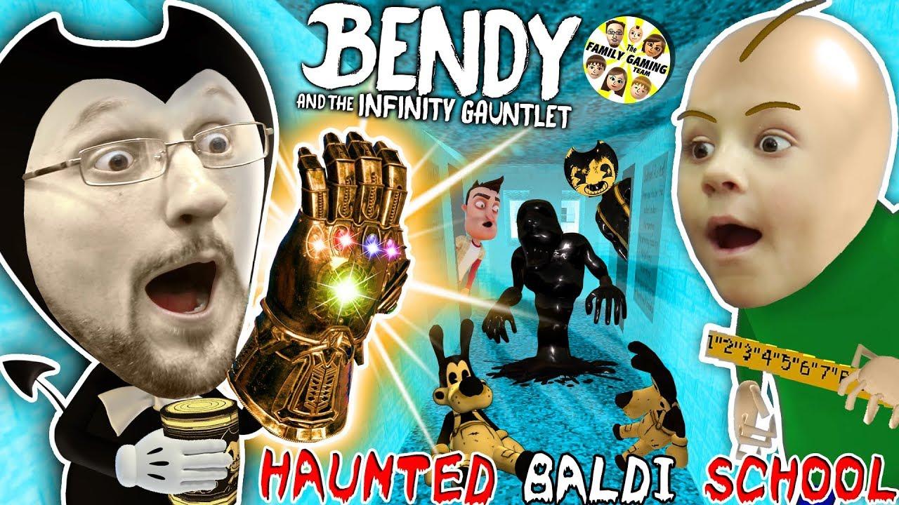 BALDI'S SCHOOL of BENDY & the INK MACHINELINGS! BACON Soup vs Infinity Gauntlet? (Insane FGTEEV Vid)