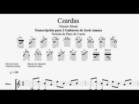 Czardas - Paco De Lucia Feat - Tablatura Por Jesús Amaya...