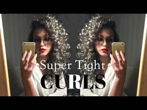 How To: Super Tight Curls using a Straightener/Flat Iron   Stella