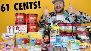 HUGE 61 CENT Dollar General Penny Shopping Haul - Retail $200