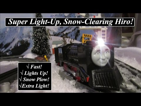 Thomas & Friends Toy Train-Trackmaster Light-Up. Snow Clearing Hiro!