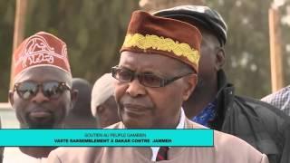 Manifestation contre le régime de Yaya Jammeh à Dakar