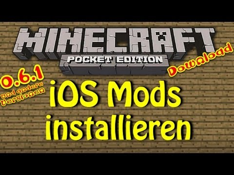 iOS! Minecraft PE! Wie man Mods installiert! DOWNLOAD! Fly in Survival, ... [Deutsch/HD]