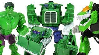 Marvel Hulk, Thor Transformers! Protect Disney cars 3 from crocodile! - DuDuPopTOY