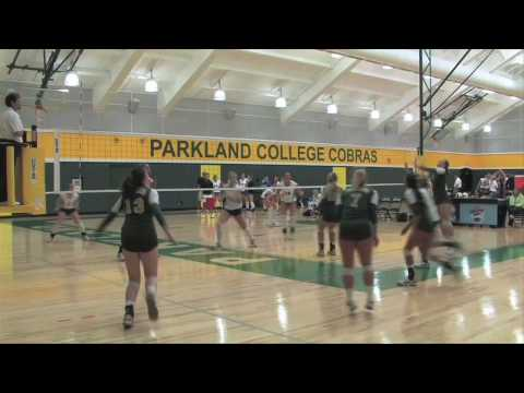 Parkland Volleyball 2009 Game Highlights vs Kirkwood Community College