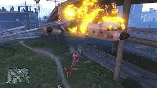 GTA 5 Funny Moments! Titan Plane Stunts & Accidents (GTA Online Funny Moments)