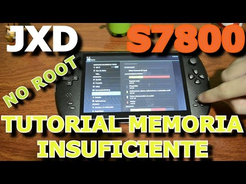 TUTORIAL SOLUCIÓN MEMORIA INSUFICIENTE ( NO ROOT ) EN LA JXD S7800