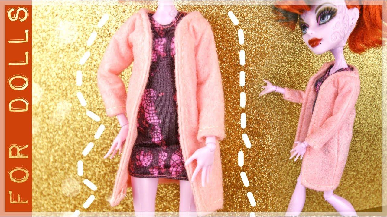 Как сделать куклам пальто