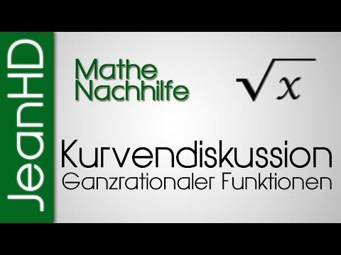 Mathe Nachhilfe - Vollständige Kurvendiskussion einer Ganzrationalen Funktion - Analysis