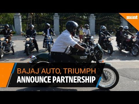Bajaj Auto Ltd announces partnership with Triumph Motorcycle UK