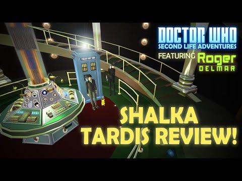 SHALKA NLS TARDIS CONSOLE REVIEW   Doctor Who Second Life Adventures   The Saturday Geeks