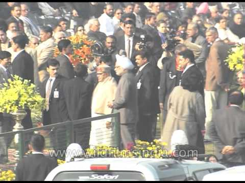 Arrival of Chief Guest: PM Manmohan Singh on India's Republic Day event