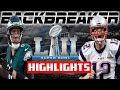 🏈 Nick Foles Game Winning Drive!  Backbreaker NFL 18   Eagles vs Patriots Superbowl 52 Highlights