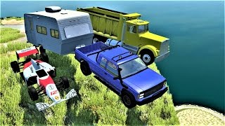 CLIFF JUMPS & CRASHES #99 - BeamNG Drive