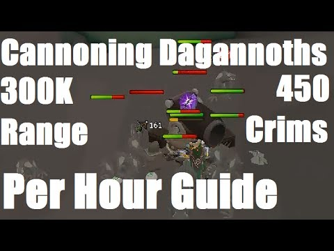 Cannoning Dagannoths Guide – 300K Range XP and 400+ Crimsons P/HR [Runescape 2014]