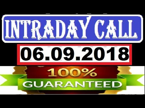 IntraDay Top 3 Jackpot Call 06.09.2018  || today stock || intraday || best stock for 2018