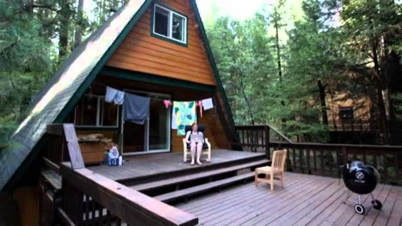 Tiny a frame cabin in the woods youtube for Custom a frame homes