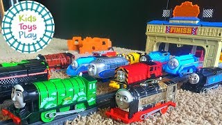 Thomas and Friends Trackmaster Race Competition | Thomas Train Great Race | Train Races for Kids