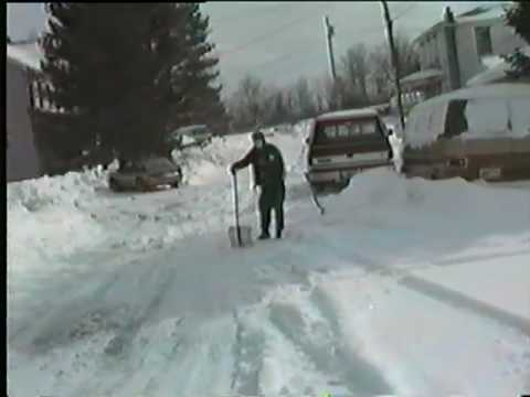 Davis WV 1993 Blizzard - Home Video Footage 1 of 2