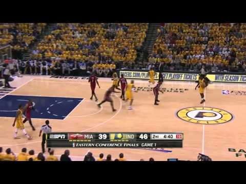 Miami Heat vs Indiana Pacers Game 1 | May 18, 2014 | NBA Eastern Conference Finals 2014