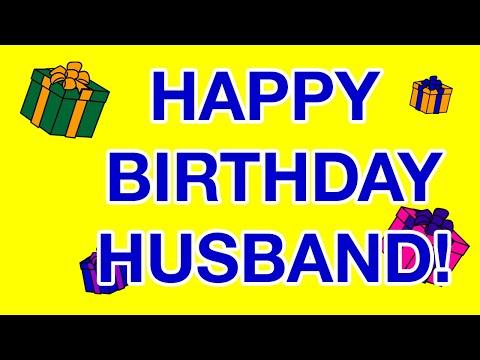 HAPPY BIRTHDAY HUSBAND! birthday cards - YouTube